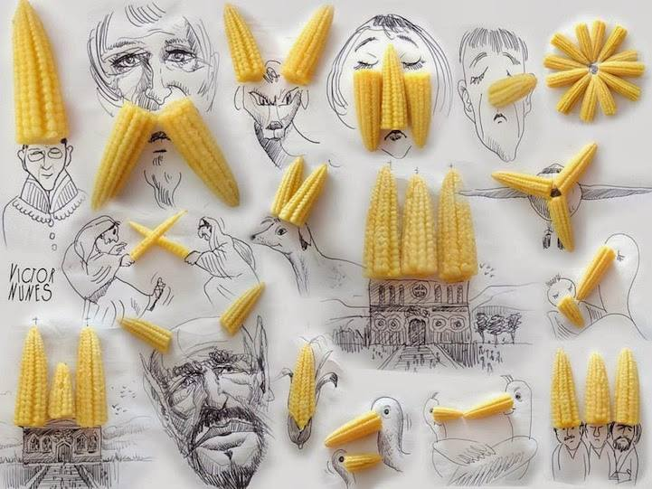 Everyday waste objects re-imagined as Art - Sheet7