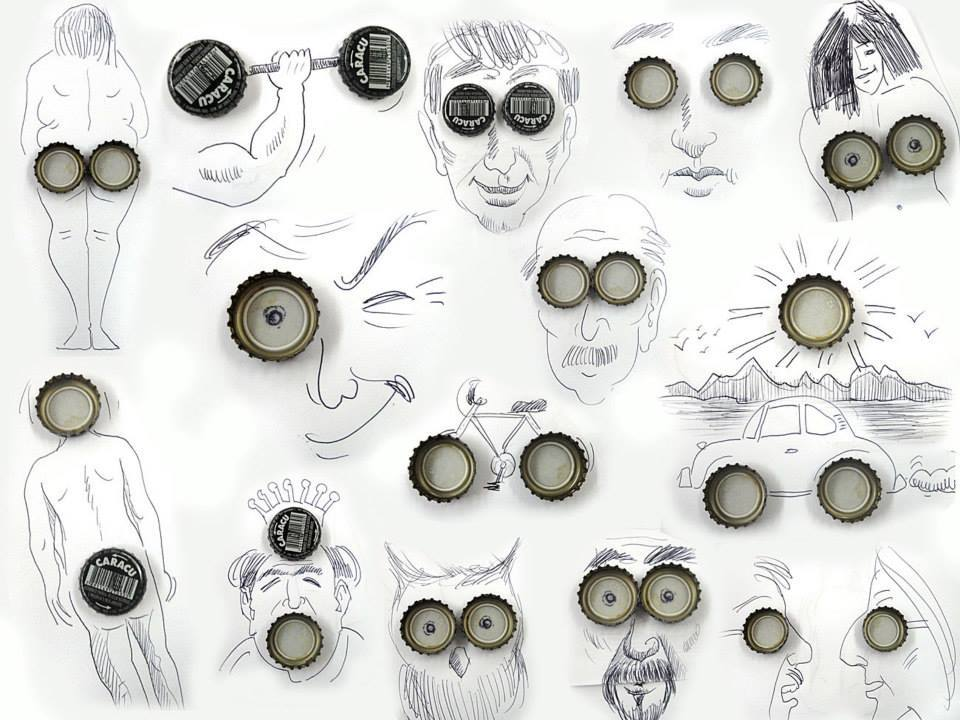 Everyday waste objects re-imagined as Art - Sheet10