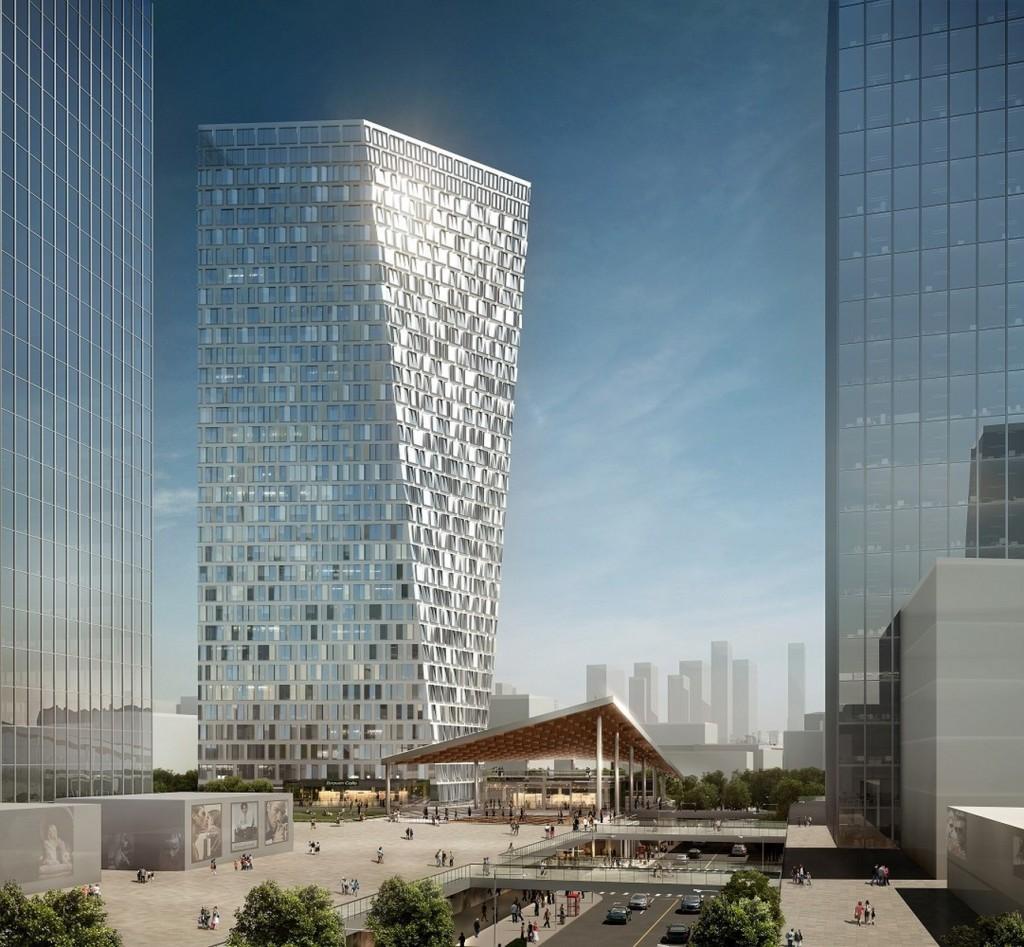 Xuhui Binjian Media City 188S G 1 Tower and Podium Winning Proposal _Aedas_4