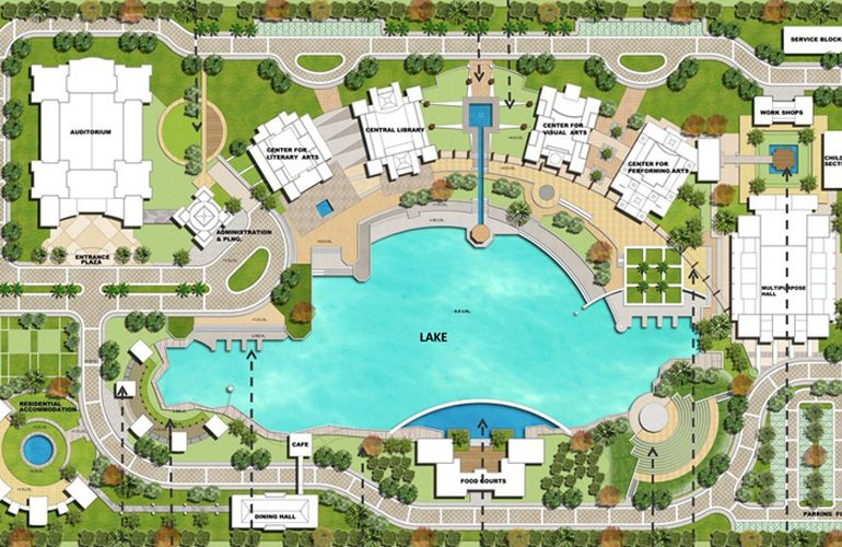 Harivansh Rai Bachchan Academy Of Arts, Noida, India By Quintessence Landscape Architecture - Sheet1