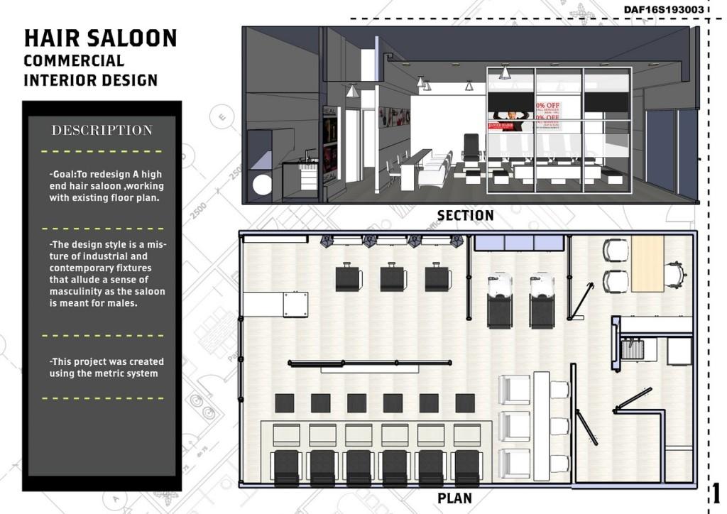 Hair Saloon-Commercial Interior Design (1)