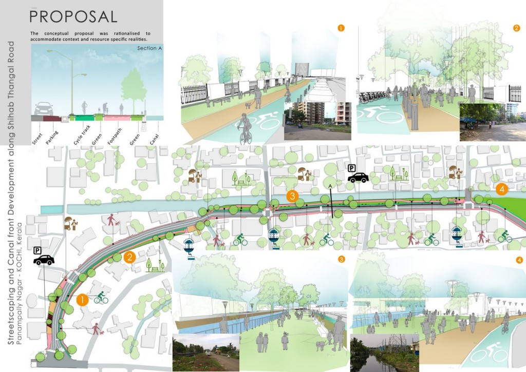 Streetscaping And Canal Front Development Along Shihab Thangal Road, Panampilly Nagar In Kochi (4)