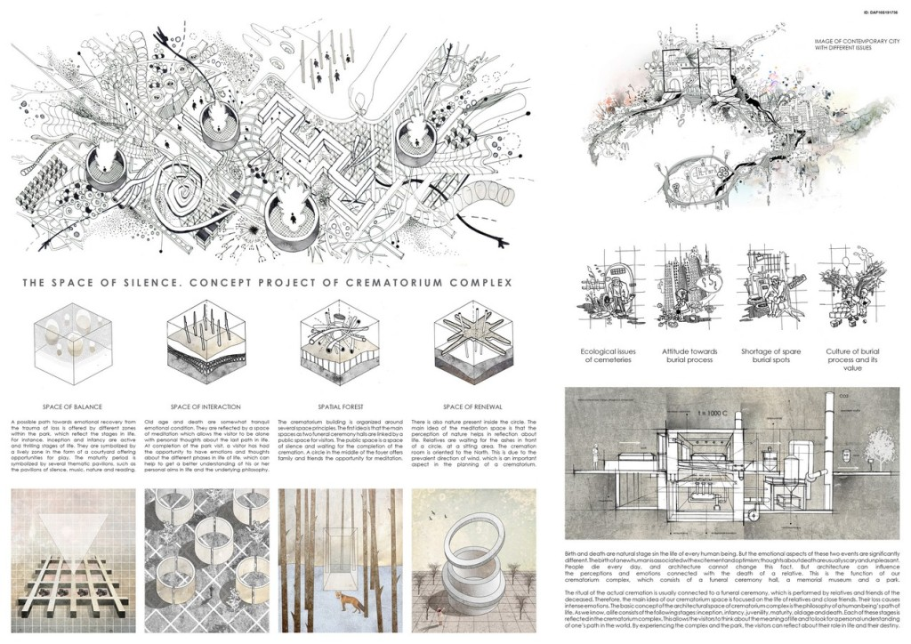 The Space Of Silence. Concept Project Of Crematorium Complex (1)