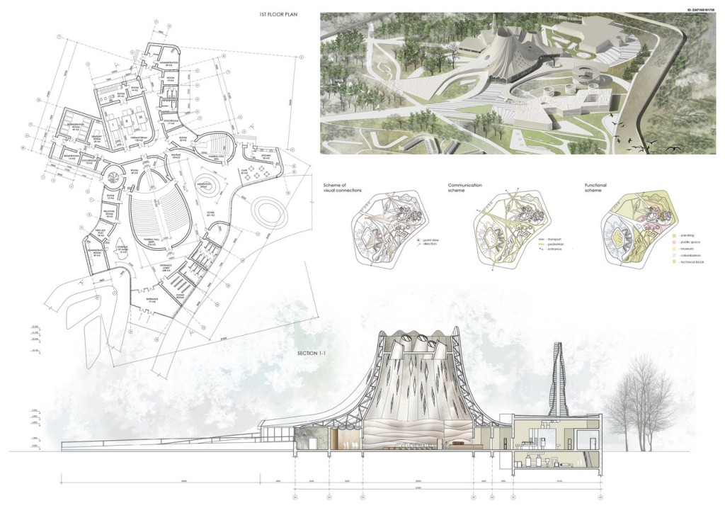 The Space Of Silence. Concept Project Of Crematorium Complex (3)