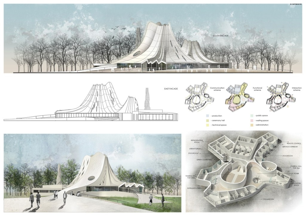 The Space Of Silence. Concept Project Of Crematorium Complex (4)