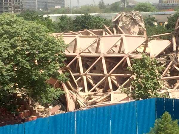 Raj Rewal's Hall of Nations at New Delhi is Demolished - Sheet1