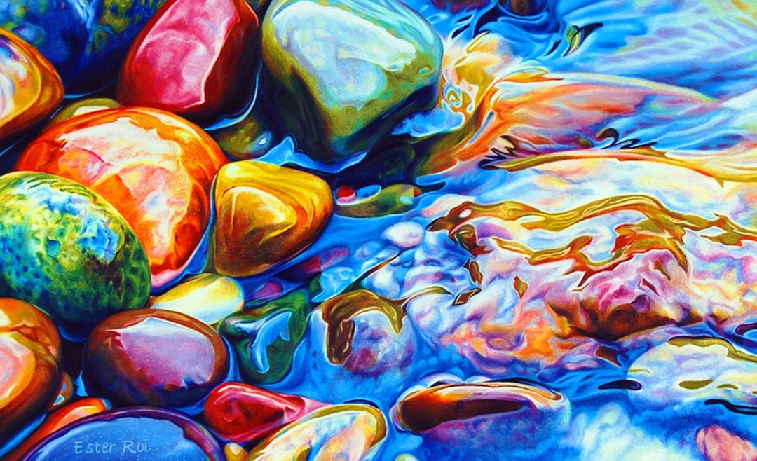 Colorful Rocks and Water: The Art of Ester Roi - Sheet4
