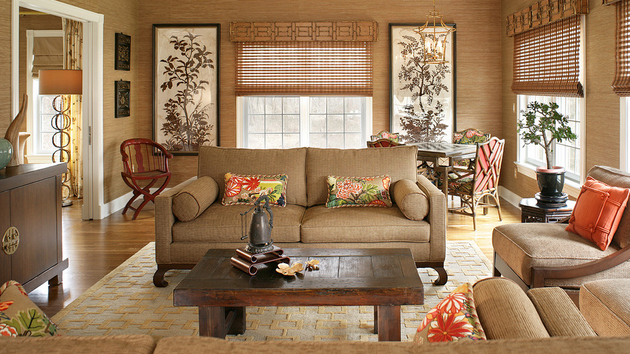 10 Elegant Living Room Color Schemes - Browns and Tans
