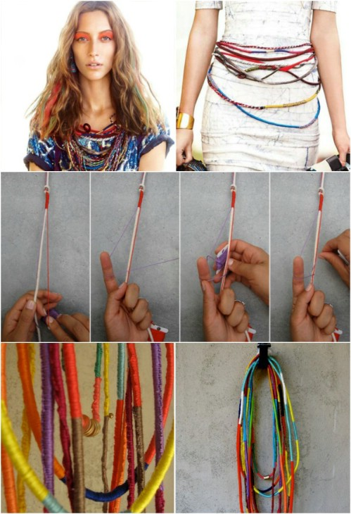 Beautiful and Stylish Rope Projects - Colorful Necklaces