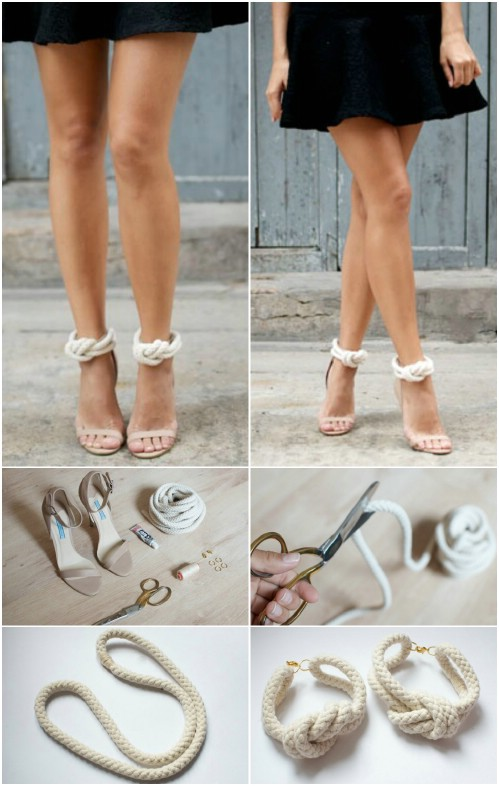 Beautiful and Stylish Rope Projects - Heel Straps