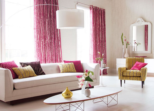 10 Elegant Living Room Color Schemes - Magnificent Magenta
