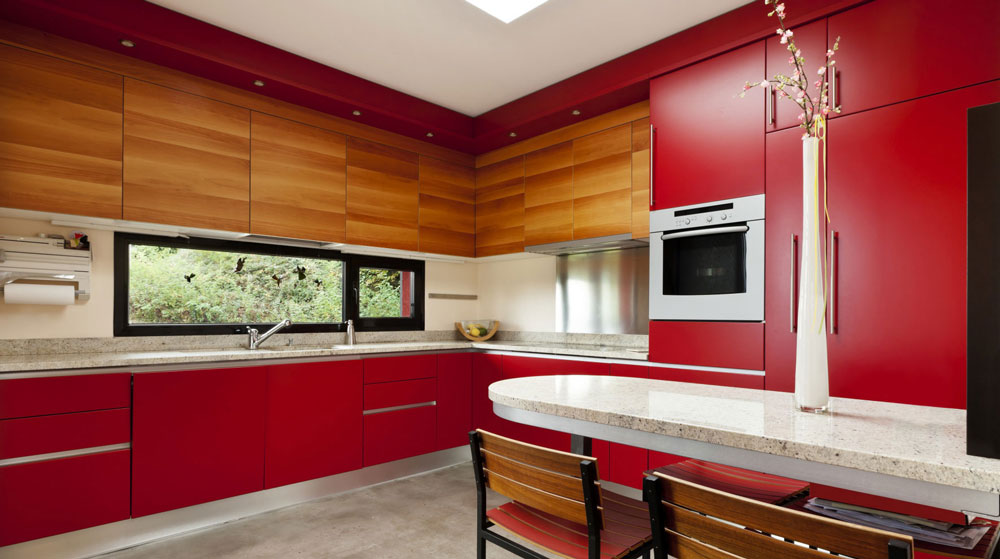 #2Bright Red Kitchen