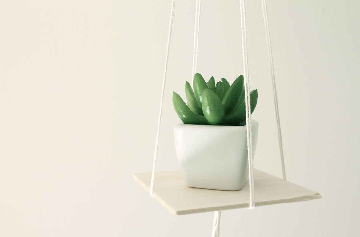 Beautiful and Stylish Rope Projects - Hanging Rope Planter