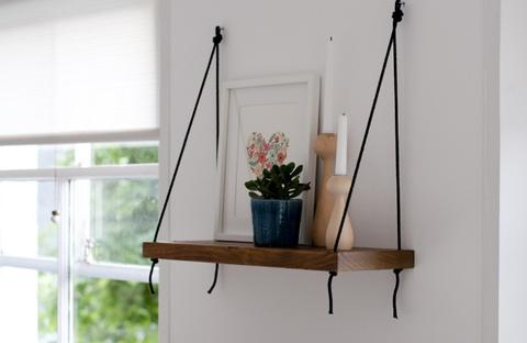 Beautiful and Stylish Rope Projects - Hanging Rope Shelves