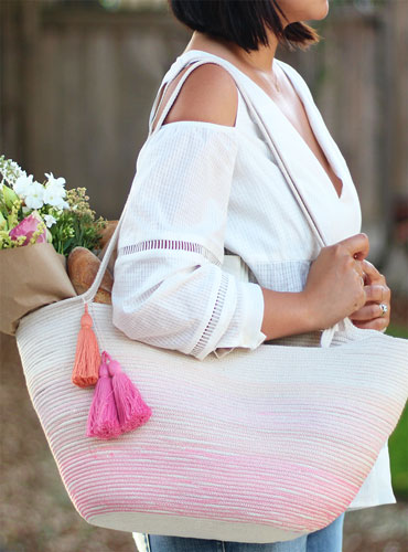 Beautiful and Stylish Rope Projects - Rope Tote Bag