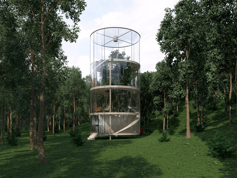 Architecture Inspiration: The Glass Cylinder House - Sheet1
