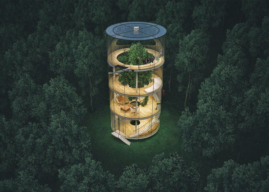 Architecture Inspiration: The Glass Cylinder House - Sheet2