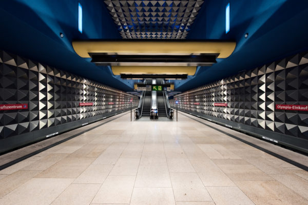 These 10 Metro Station Designs Will Take You To Another Universe - Olympia-Einkaufszentrum Station, Munich, Germany
