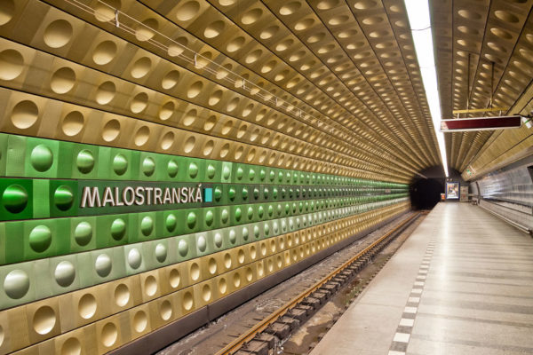 These 10 Metro Station Designs Will Take You To Another Universe - Malostranská Station, Prague, Czech Republic