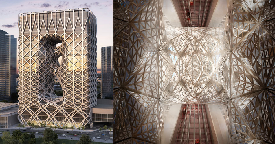 Best Hotels of year 2017 - City of Dreams Hotel Tower | Zaha Hadid Architects