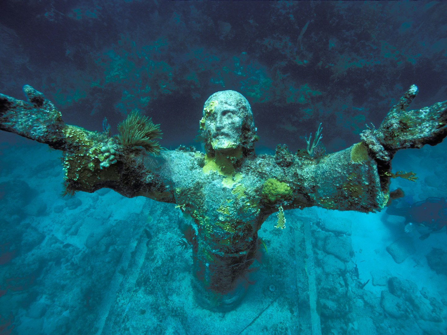 20 Architectural Scariest Places In The World - Christ of the Abyss San Fruttuoso Italy