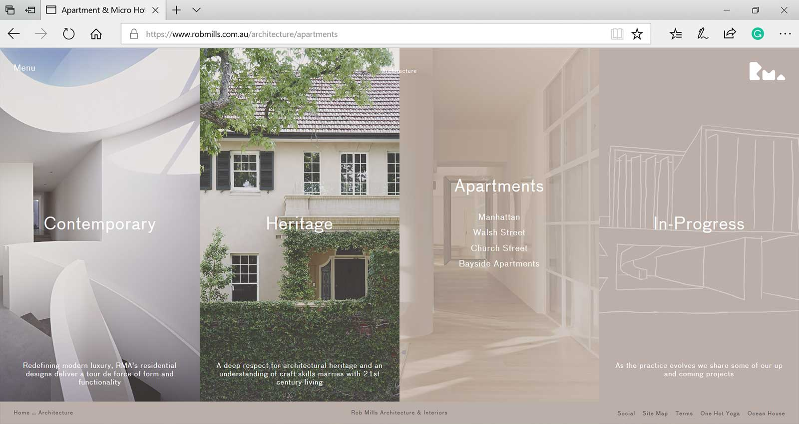 Top 15 Architecture Studio Websites of 2017 - Rob Mills Architects