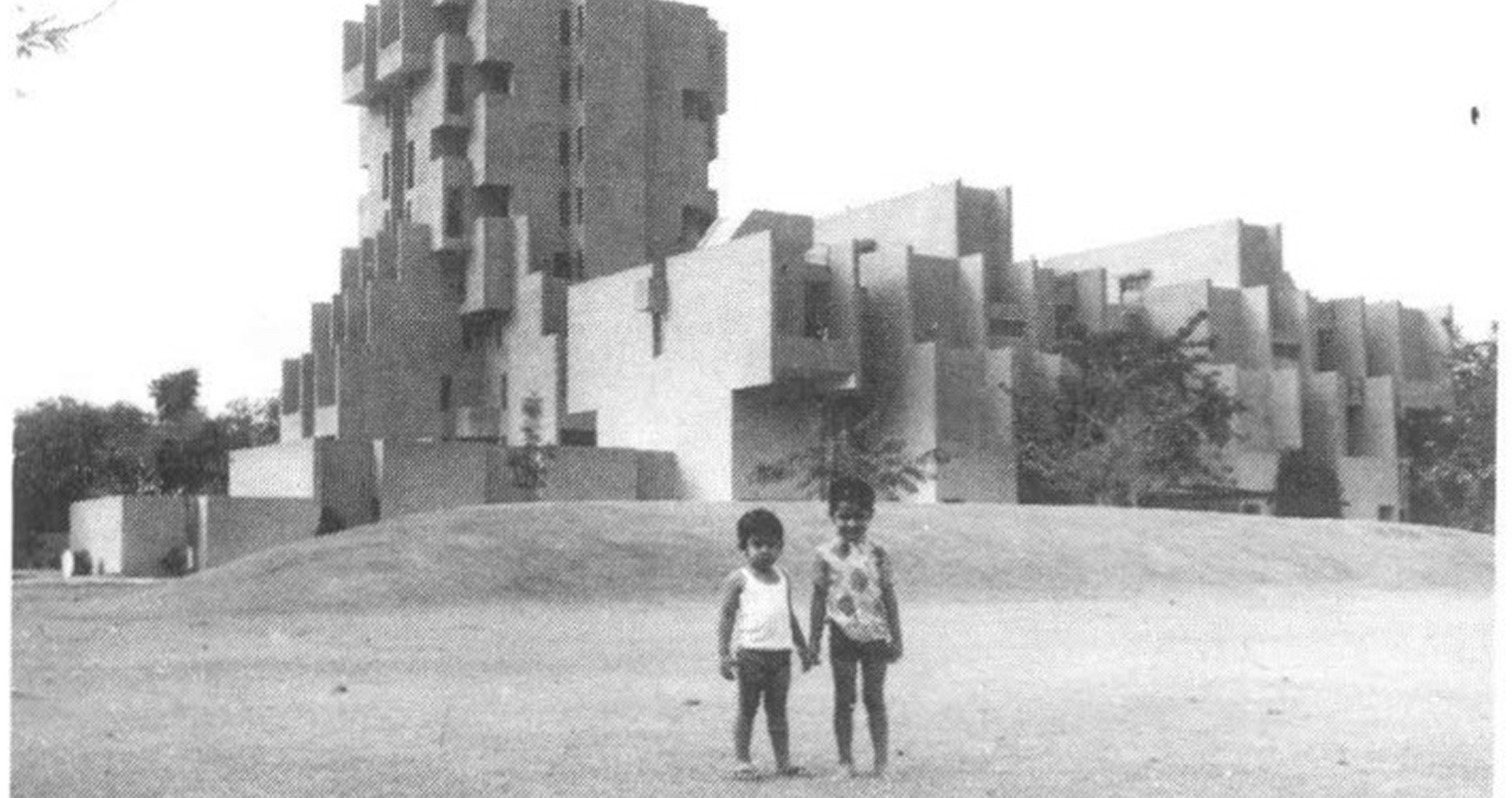 A journey of 100 years of Architecture in India   Part 02 - 1971-1973-Hostel-Tower-National-Dairy-Development-Board-Anand