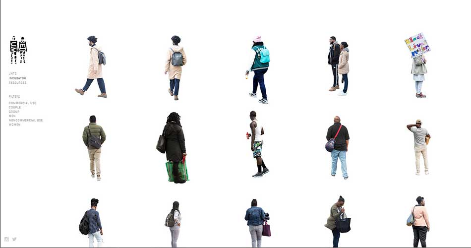 10 Websites to find Cutouts of People for Architectural Renderings - Just Nøt the Same | African American | Commercial Use