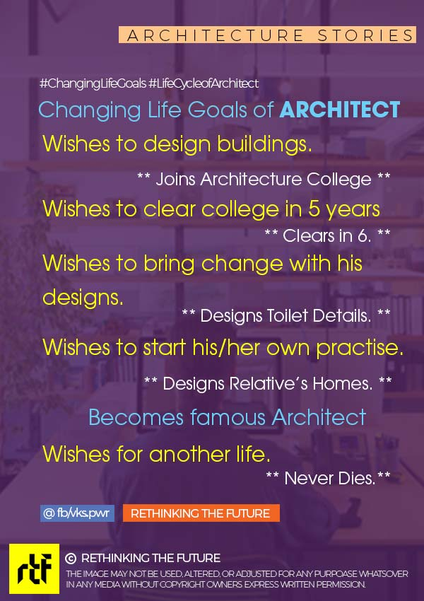 Changing Life Goal of Architect!