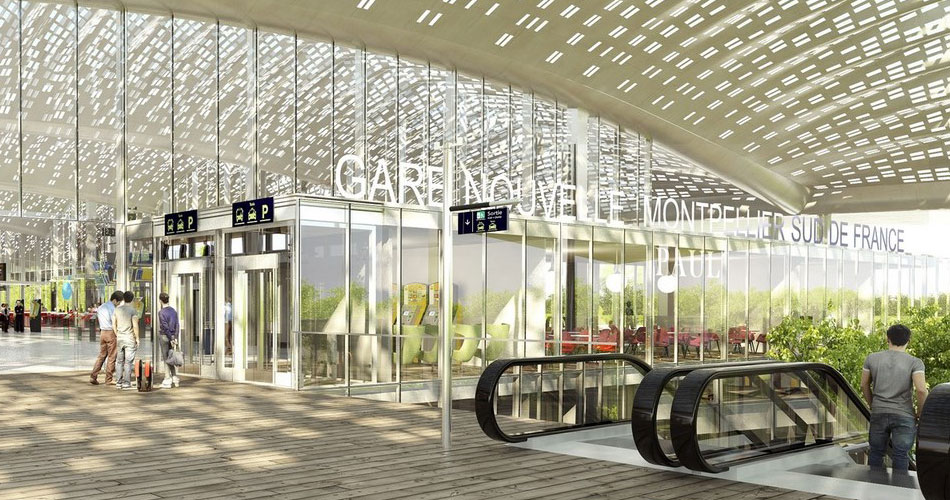 Best of 2017 - Transport Hubs Check out all the Projects here! - Reveals Design for New TGV Station in Montpellier by Marc Mimram