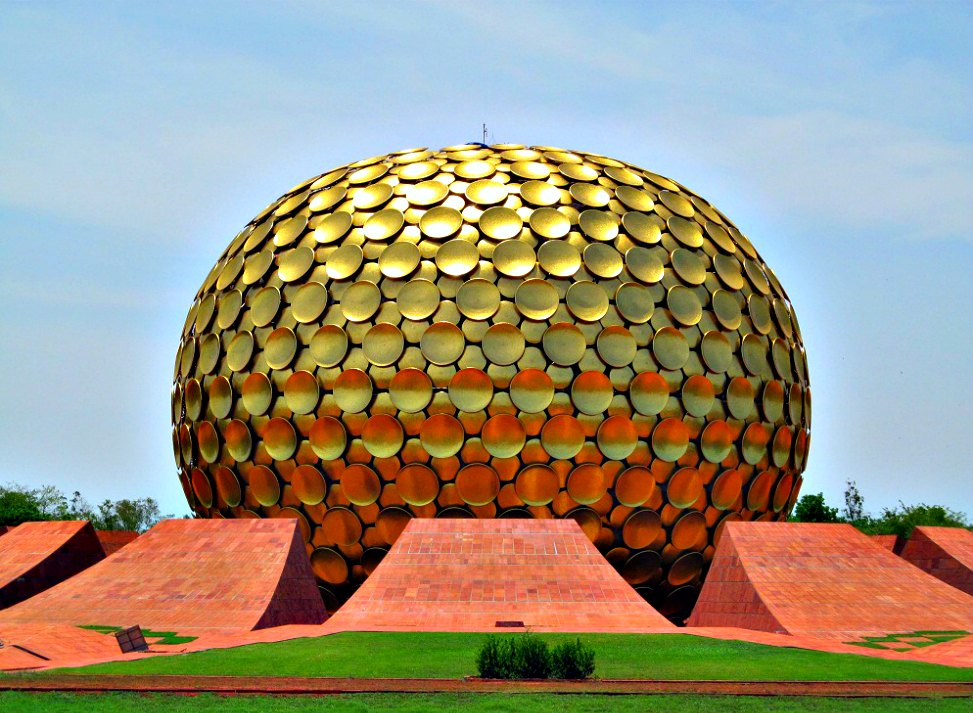 17 Offbeat Places in India Every Architect Must Visit - Matri Mandir at Auroville