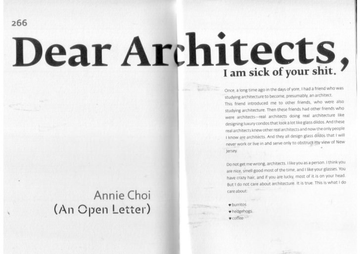 Dear Architects, I am sick of your shit. - Sheet2