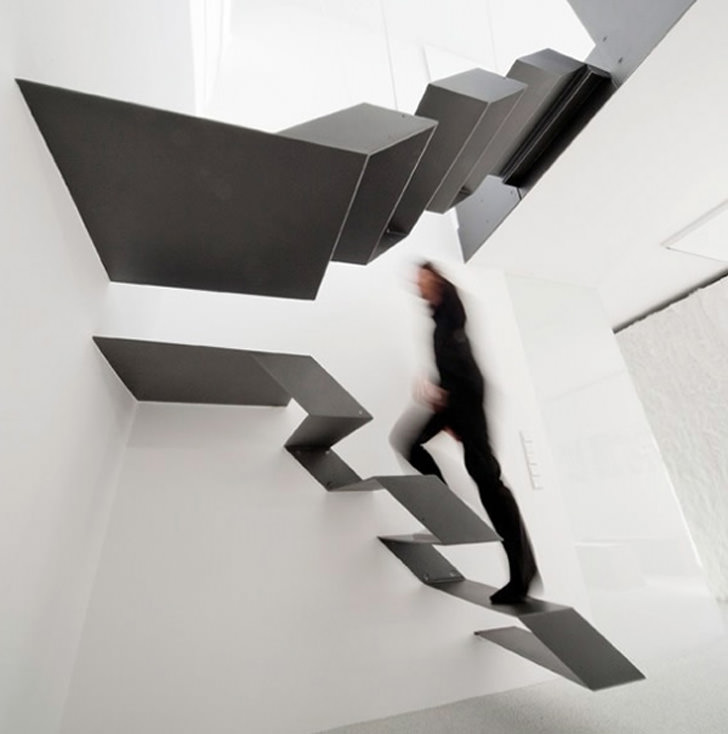 10 Amazing and Creative Staircase Design Ideas - Continuous Ribbon Stairs