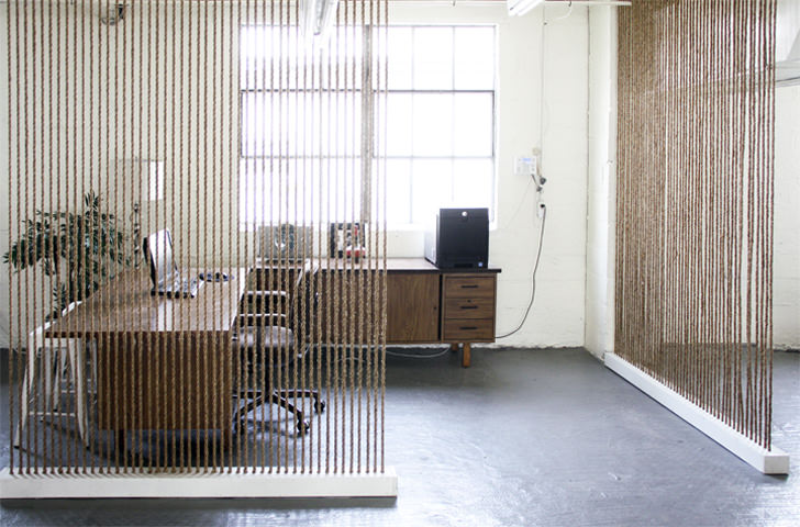 Creative Room Divider By Office Screen Partition Ideas - Rope Wall1