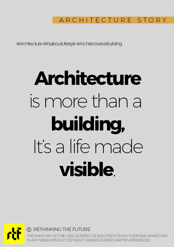 Architecture is a big responsibility!