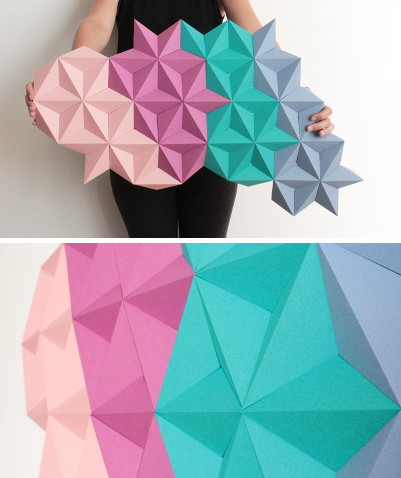 Kinga Kubowicz Has Created Moduuli, A Collection Of Geometric Origami Wall Art - Sheet4