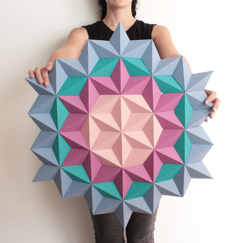 Kinga Kubowicz Has Created Moduuli A Collection Of Geometric Origami Wall Art