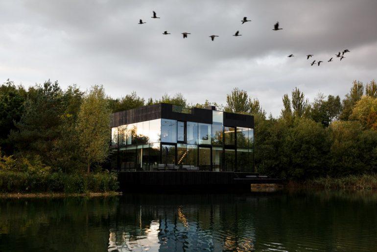 Glass Villa in the lake, Lechlade, United Kingdom By Mecanoo Architecten - Sheet17