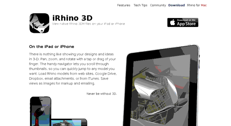 10 Architecture Apps To Try - iRhino 3D (iOS)