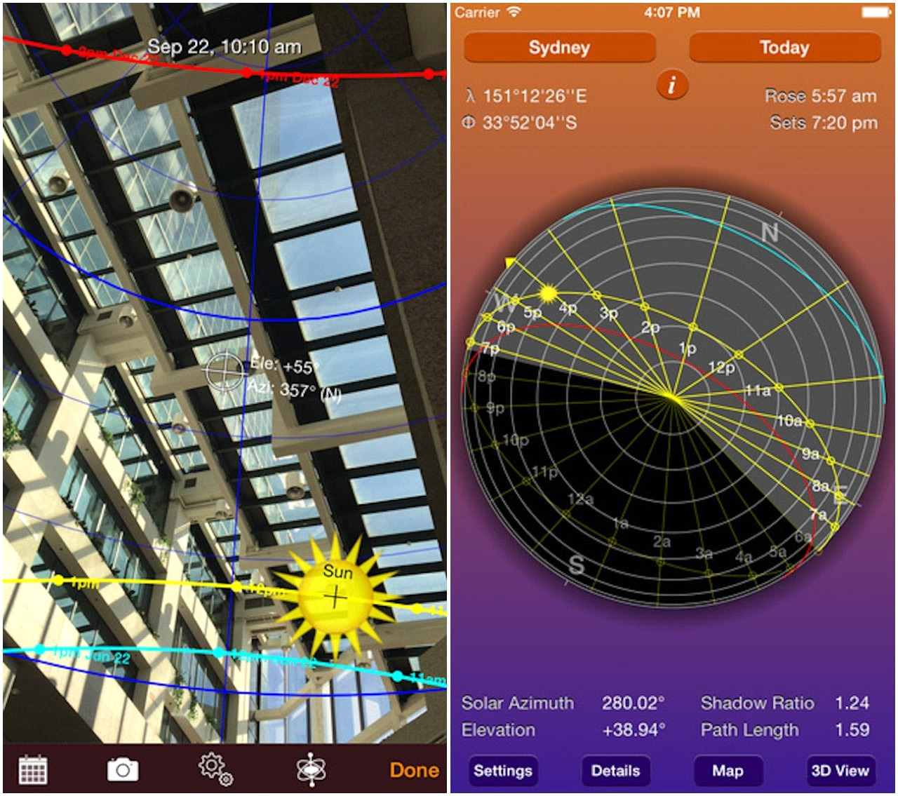 10 Architecture Apps To Try - Sun Seeker (iOS/Android)