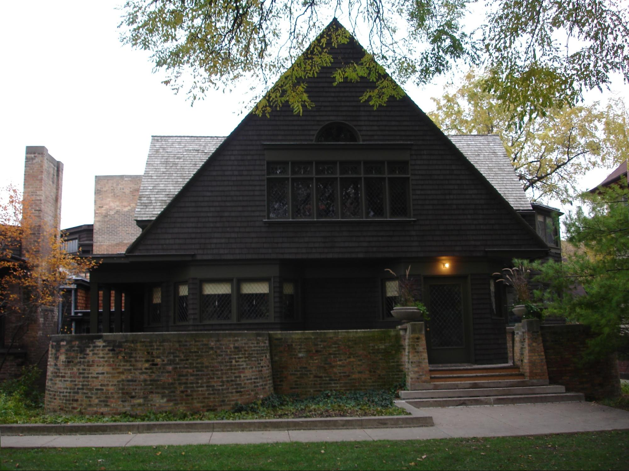 """Happy 152nd Birthday Frank! 50 projects by """"America's greatest Architect"""" (that you can visit) - Frank Lloyd Wright Home (1889)"""