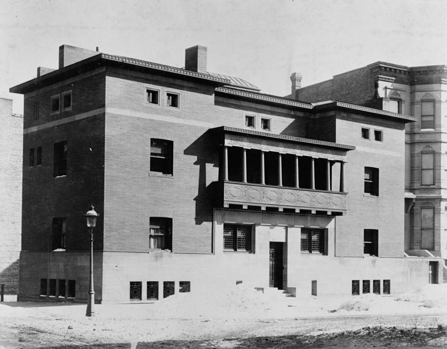 """Happy 152nd Birthday Frank! 50 projects by """"America's greatest Architect"""" (that you can visit) - James A. Charnley House (1891)"""