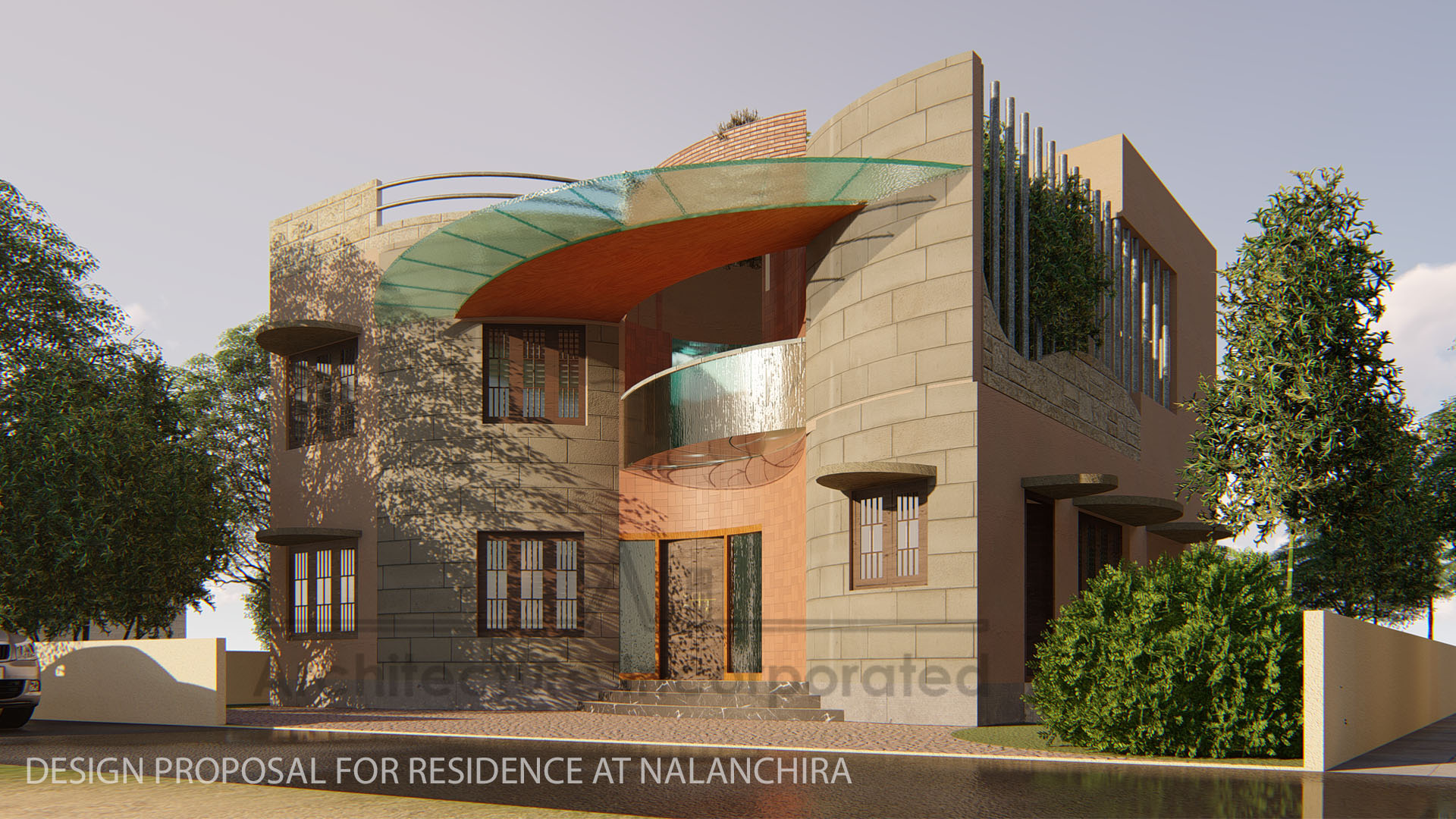 Residence, Nalanchira by Architecture Incorporated