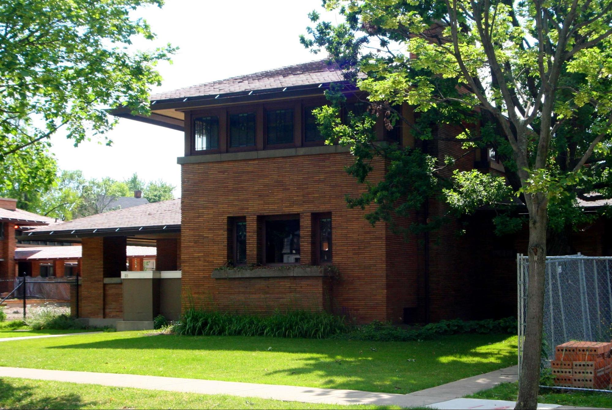 """Happy 152nd Birthday Frank! 50 projects by """"America's greatest Architect"""" (that you can visit) - George F. Barton House (1902)"""