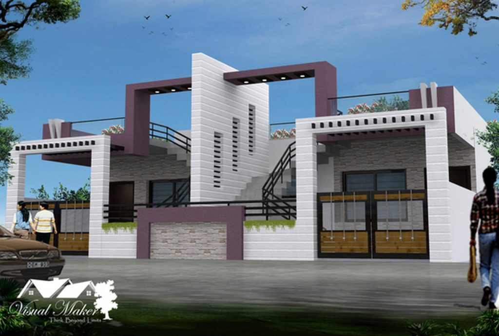 Twin Bungalow, Indore by Visual Maker