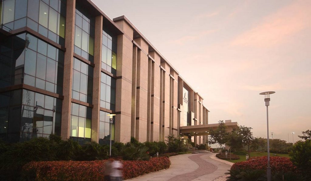 An expanding vistas of the building -  Franklin Templeton Campus Hyderabad
