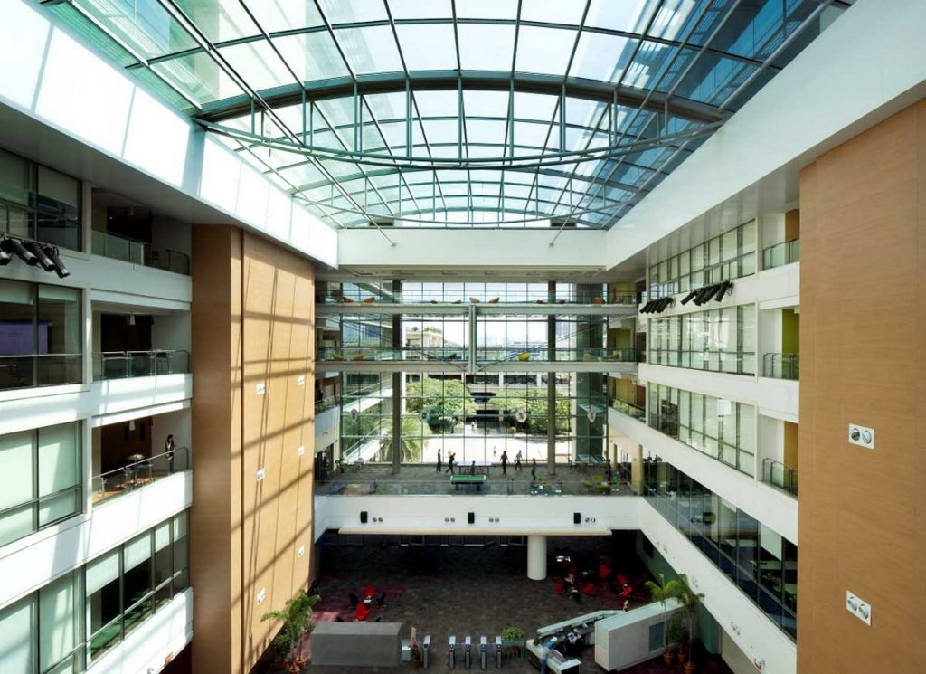 Interior view of an office - Microsoft Campus Hyderabad