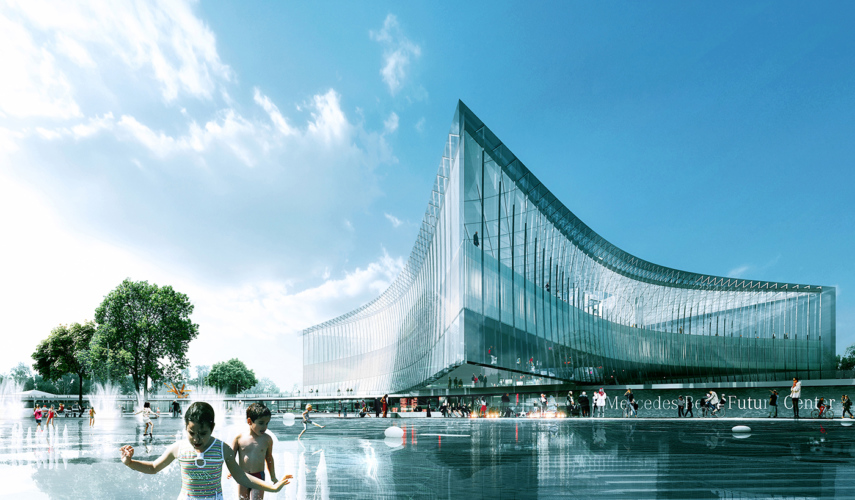 15 Works of REX Architecture Every Architect must know about - Mercedes-Benzes Future Lab & Campus Extension 2.0 (MBC 2.0), Germany