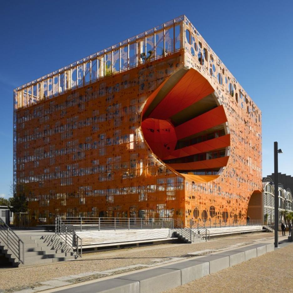 The Orange Cube by by Jakob + Macfarlane © Designboom