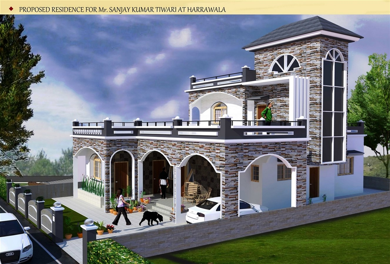 Top Architecture Firms in Dehradun India - Best Architects in Dehradun - Residence project, Harrawala by Design Studioc